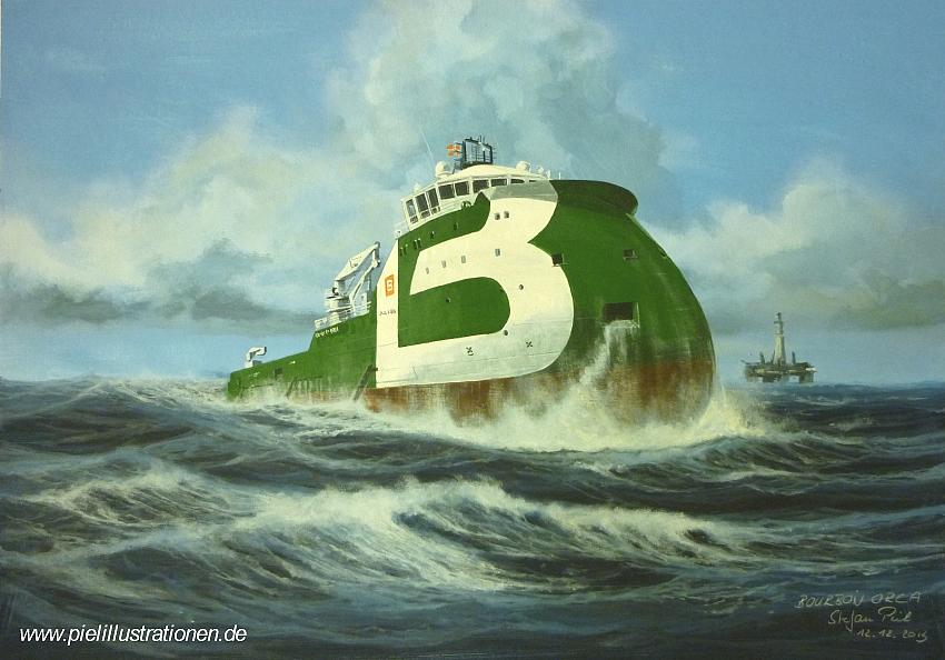 Bourbon Orca - Piel Illustrationen